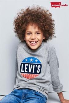 Levi's® Grey Circle Logo Long Sleeve Tee