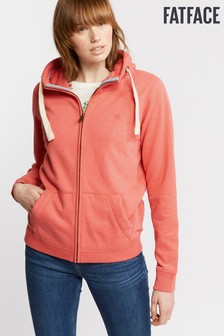 FatFace Orange Heritage Zip Through Hoody