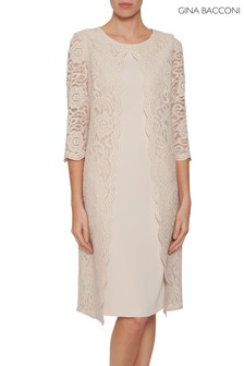 Gina Bacconi Pink Mavis Lace Dress
