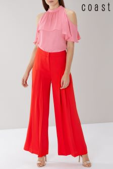 Coast Red Rio Wide Leg Trouser