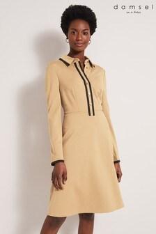 Damsel In A Dress Neutral Manda Colourblock Dress