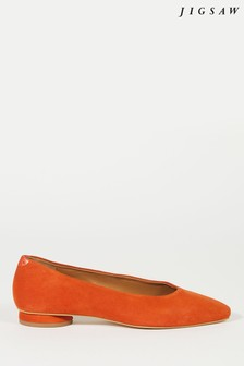 Jigsaw Arla Soft Square Flat Shoes