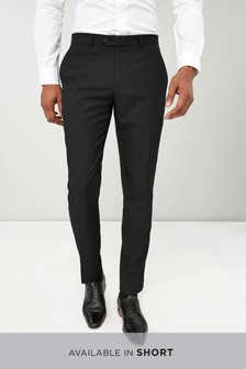 Wool Blend Tuxedo Suit: Trousers