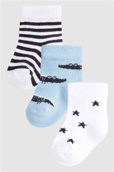 Crocodile Socks Three Pack (Younger)