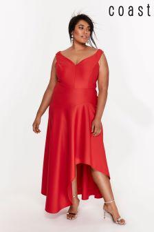 Coast Curve Red Belle Maxi Dress