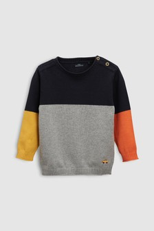 Colourblock Jumper (3mths-6yrs)
