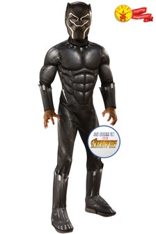 Rubies Avengers Deluxe Black Panther Fancy Dress Costume