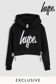 Hype. Black Side Taped Hoody