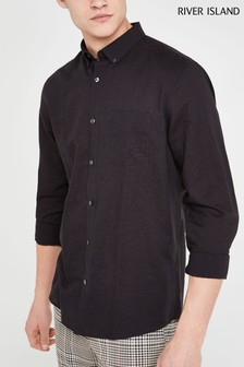 River Island Long Sleeve Linen Shirt