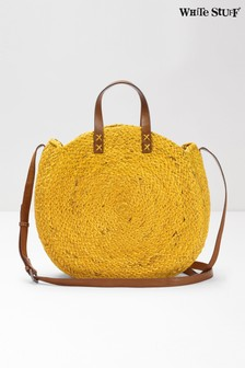 White Stuff Yellow Amal Jute Cross Body Bag
