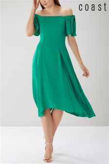 Coast Green Bonnie Bardot Midi Dress