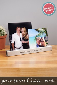 Personalised Stainless Steel Photo Bar by Oakdene Designs