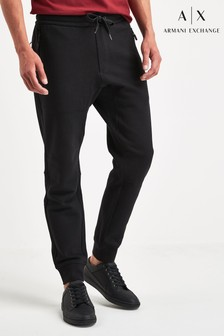 Armani Exchange Black Logo Joggers