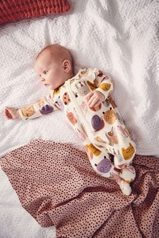 Multi Character Fleece Inner Sleepsuit (0mths-2yrs)