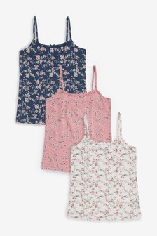 3 Pack Floral Camis (2-16yrs)