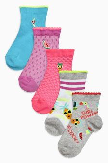 Ankle Socks Five Pack (Older)