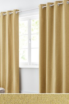 Multi Texture Eyelet Curtains