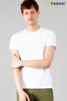 T-shirt ajusté Farah Denny blanc