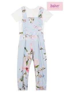 d8d6f5e47277cd baker by Ted Baker Toddler Girls Dungaree Jumpsuit And T-Shirt