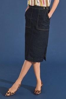 Tailored Midi Skirt