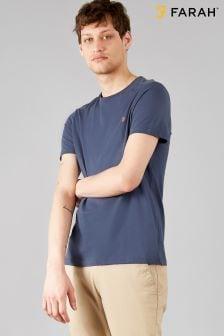 T-shirt Farah Denny ajusté bleu