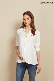 Isabella Oliver White Morgan Maternity Shirt