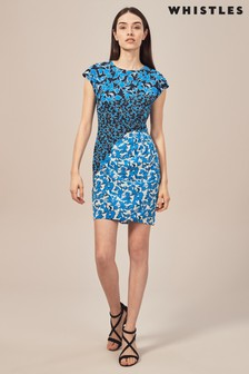 Whistles Jocelyn Cordilla Print Bodycon Dress