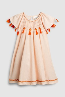 Check Tassel Dress (3mths-6yrs)