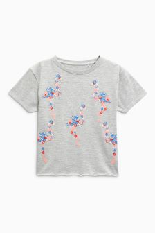 Embroidered Flamingo T-Shirt (3-16yrs)