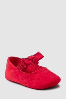 Velvet Pram Shoes (0-18mths)