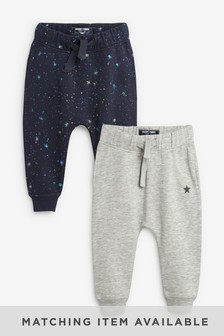 Splat Print Joggers Two Pack (3mths-7yrs)