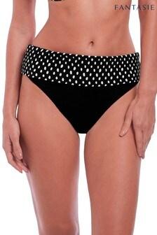 Fantasie Black Spot Santa Monica Classic Fold Bikini Brief