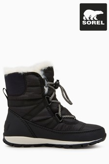 Sorel® Black Lace-Up Whitney Boot