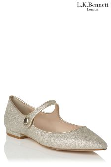 L.K.Bennett Mary Jane Gold Shoe