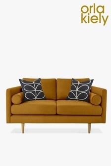 Orla Kiely Mimosa Small Sofa with Oak Feet