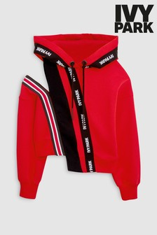 Ivy Park Red Asymmetric Hoody