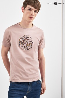 Pretty Green Barley Appliqué Logo T-Shirt
