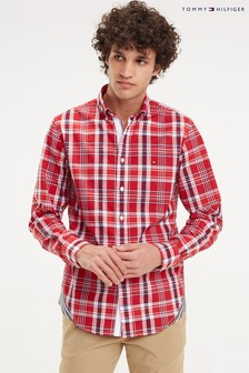 Tommy Hilfiger Red Midscale Check Shirt