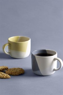 Set of 2 Colourblock Mugs