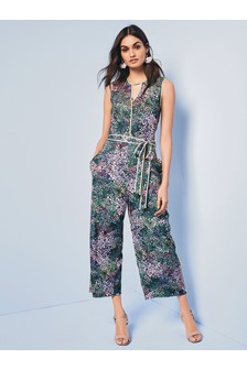 Piped Culotte Jumpsuit