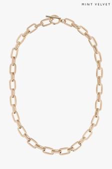 Mint Velvet Gold Tone Chain Necklace