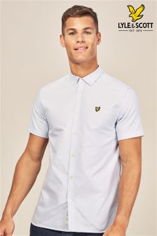 Lyle & Scott Blue Short Sleeve Oxford Shirt