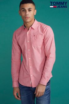 Tommy Jeans Pink Basic Solid Shirt