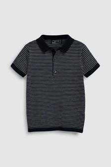 Fine Stripe Knit Polo (3-16yrs)