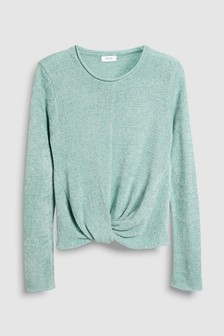Tie Front Chenille Jumper (3-16yrs)