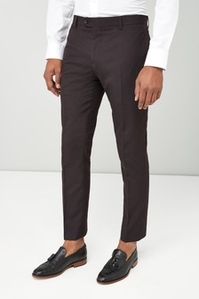 Slim Fit Shawl Collar Tuxedo Suit: Trousers