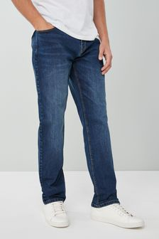 18f2fe70 Mens Straight Fit Jeans | Stretch & Belted Straight Jeans | Next