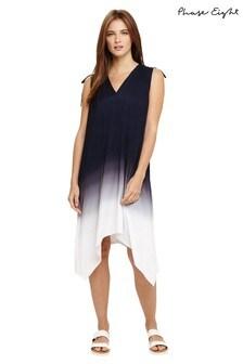 Phase Eight Blue Oska Ombre Beach Dress