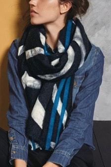 斑马印花围巾