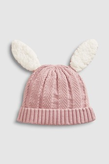 Knitted Bunny Hat (0mths-2yrs)